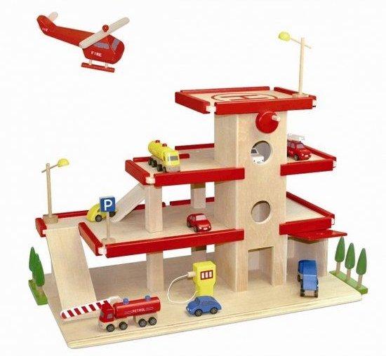 Dudu Toys Garage Groot met Lift, rood