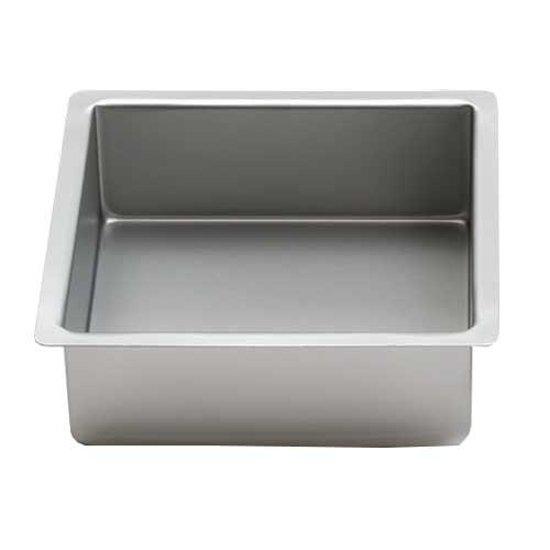 Vierkante aluminium bakvorm 7.5cm hoog, 25cm - Decora