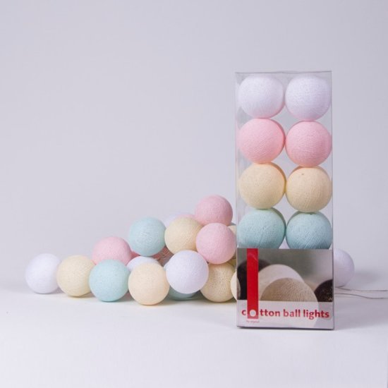 Cotton Ball Lights lichtslinger pastel - 35 cotton balls