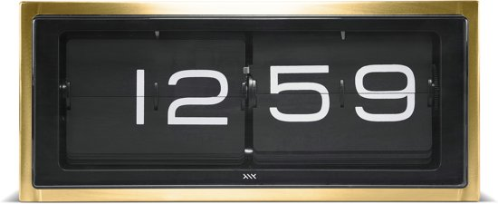wall/desk clock brick brass 24h black