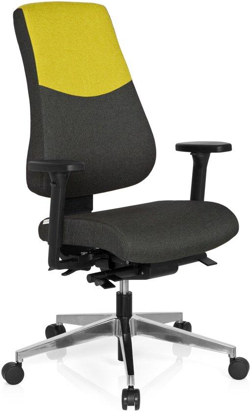 hjh office Pro-Tec 600 - Bureaustoel - Stof -Donkergrijs / groen