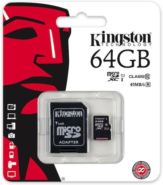 64GB Micro SDXC Kingston class 10