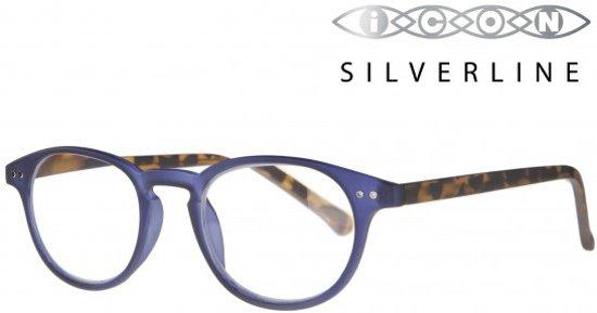 Icon Eyewear RCE703 Murray Silverline Leesbril +1.00 - Mat zeeblauw, demi pootjes