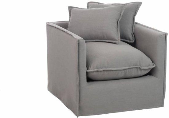 Kussens Voor Fauteuil.Duverger Cushions Fauteuil Met Kussens Linnen Grijs Afm 85 Cm 85 Cm 65 Cm