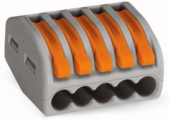 Wago 222-415 Grijs, Oranje elektrisch klemmenblok