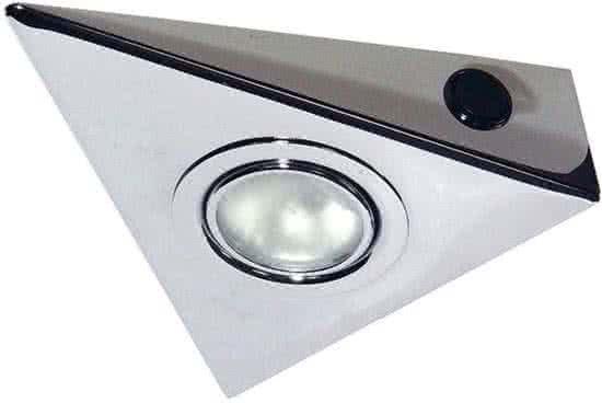 Kanlux ZEPO Onderbouwverlichting 1x20W Chroom + Wipschakelaar 4385