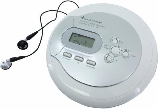 Soundmaster CD9180 - Portable CD/MP3-speler met ESP & Oplaad functie - grijs