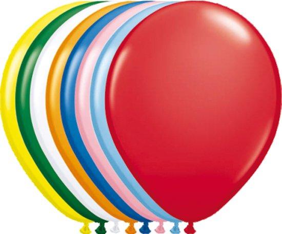 Ballonnen metallic meerkleurig - 30 cm - 100 stuks
