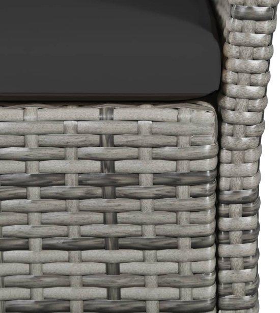 vidaXL Tuinbank 105 cm poly rattan grijs