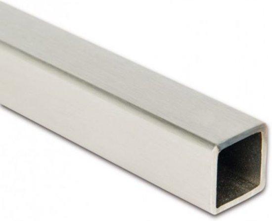 Stabilisatiestang vierkant 15 x 15 mm zonder aansluitingen zwart