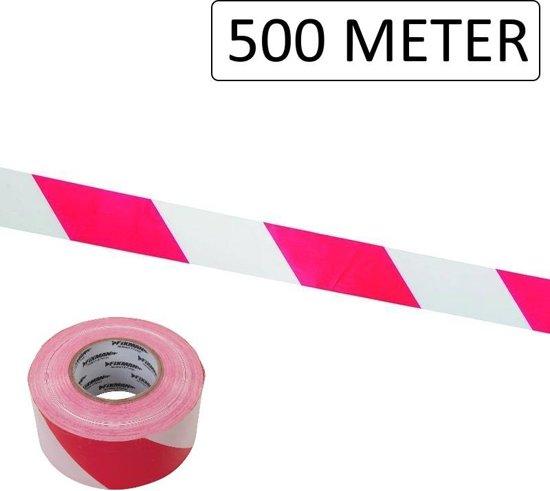 Zeer bol.com | Afzetlint Rood/Wit 70mm x 500 Meter UB28