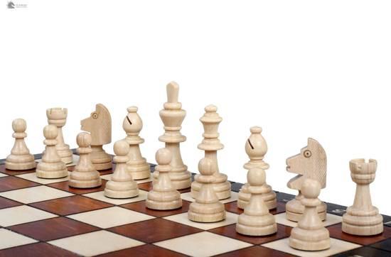 Sunrise-Magnetisch schaakspel / schaakbord (Hout)