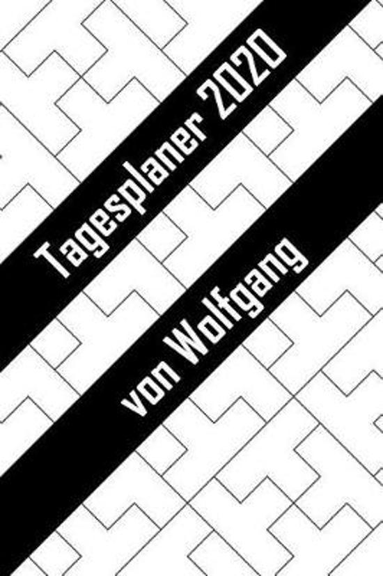 Tagesplaner 2020 von Wolfgang