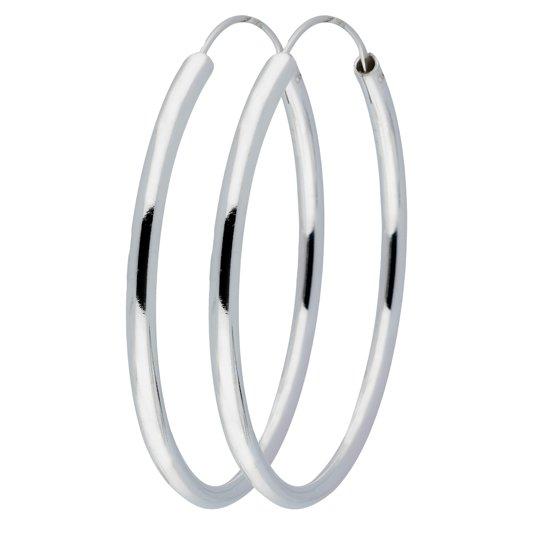 Silver Lining draadoorringen - zilver - ronde buis 3 mm - 50 mm