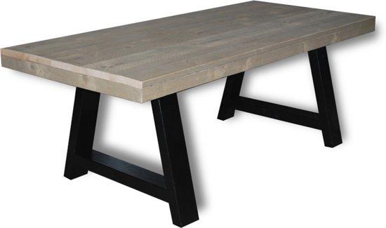 Bol tafel bio persoons eettafel groen grijs zwart