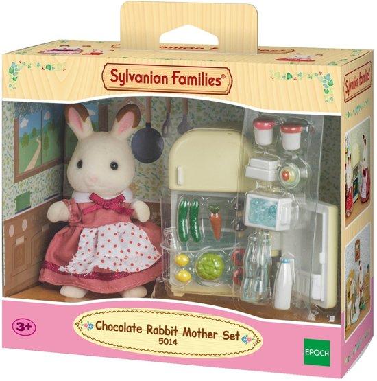 Sylvanian Families 5014 Set Moeder Chocoladekonijn (Koelkast)   - Speelfigurenset