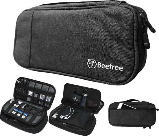2c19a2992c7 Beefree Kabel Organizer Tas – 3 lagen - Travel Organizer - Kabeltas - Zwart