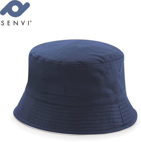 03095f950a3 Senvi Reversible Bucket Hat Maat S M Blauw Wit