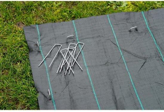 10 stuks Gronddoekpennen metaal 20 x 5 x 20 cm
