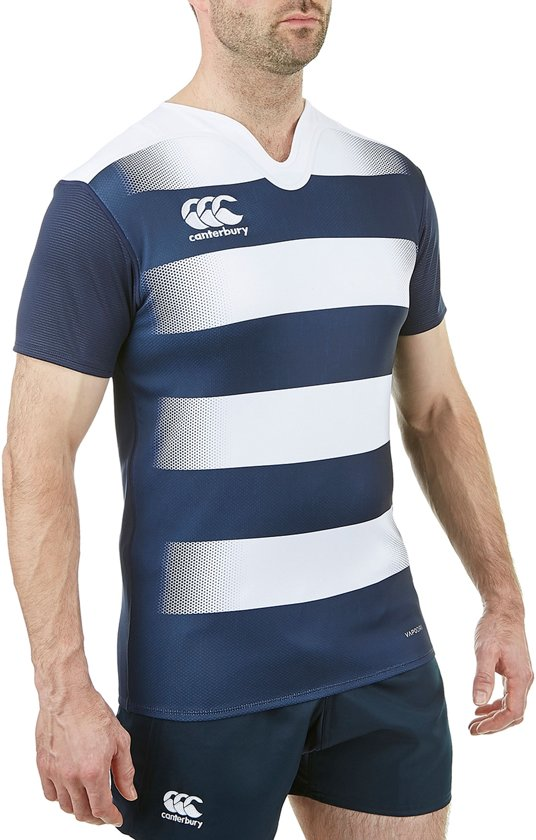 Blauw Challenge Hooped Xl Rugby Sportshirt PerformanceMaat Mannen Heren Canterbury wit Jersey Vapodri 0wk8nPO