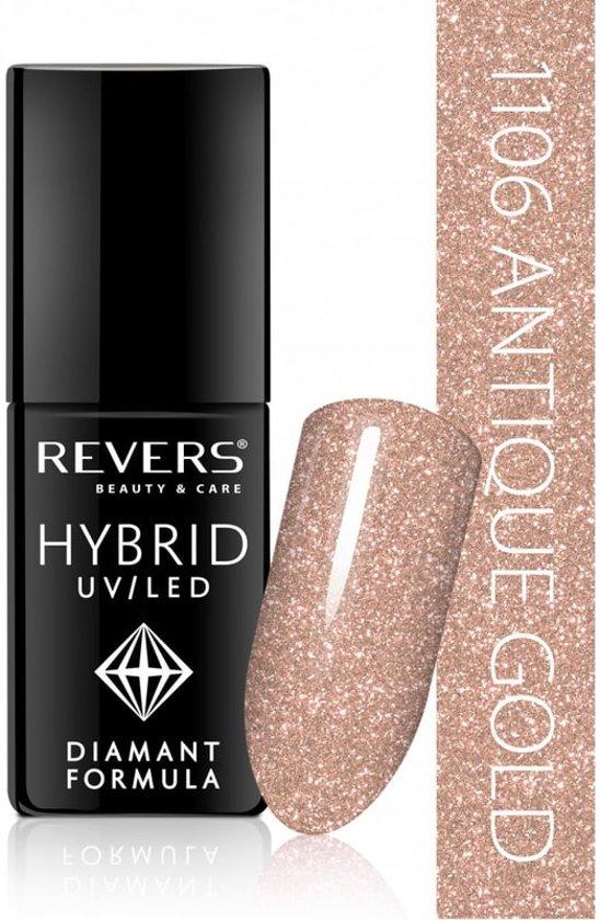 REVERS® Hybrid Nail Polish UV/LED 6ml. #1106 Antique Gold