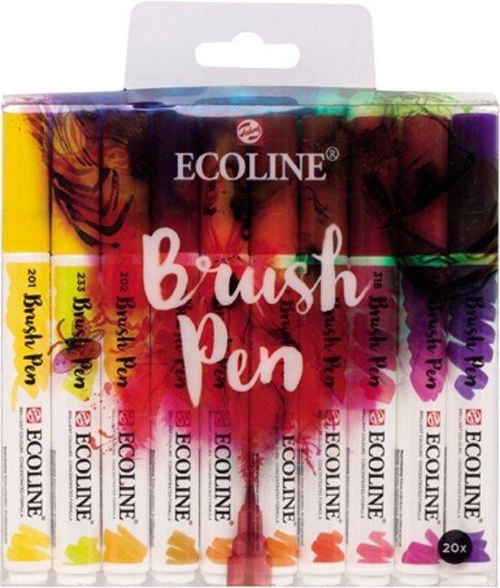 Talens Ecoline - Brush Pen set - 20 stuks - Assorti