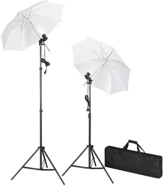 vidaXL - Studiolampenset incl. statieven en paraplu's