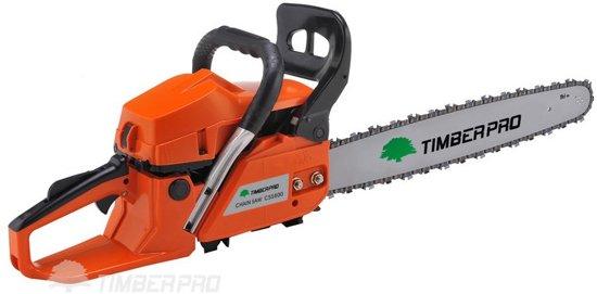 Timberpro Benzine Kettingzaag - 58 cc - Zwaardlengte 50 cm - Met transportzak - Met 2e ketting