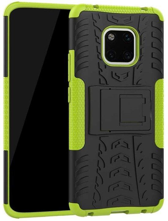 Huawei Mate 20 Pro hoesje - Rugged Hybrid Case - groen