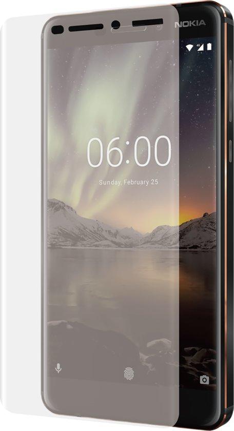 Azuri Curved Tempered Glass RINOX ARMOR - zwart - voor Nokia 6 (2018)