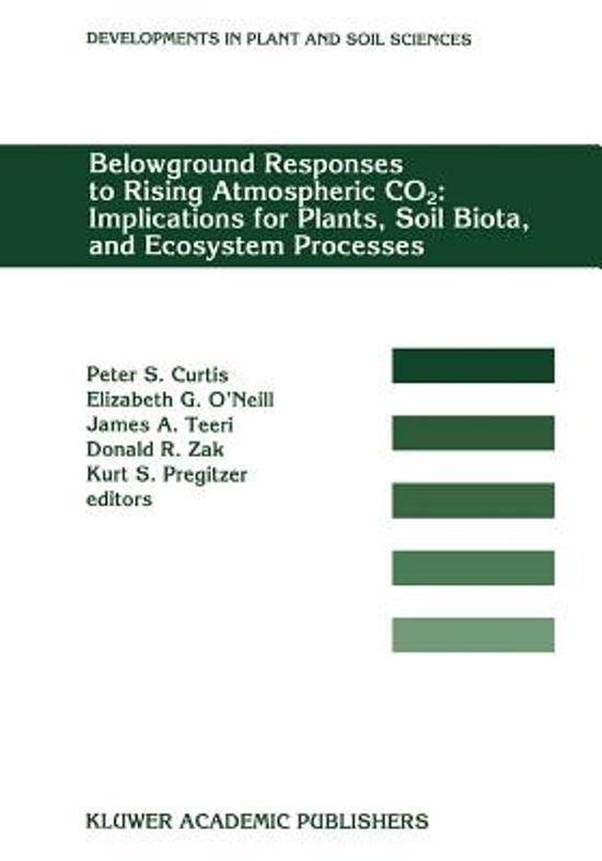 Boekomslag voor Belowground Responses to Rising Atmospheric CO2