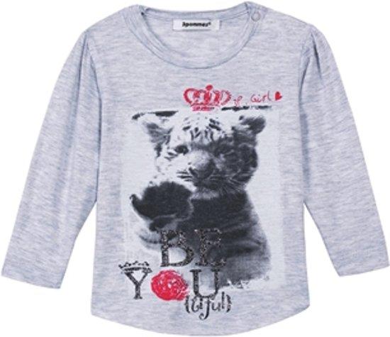 3pommes Babykleding - T-shirt grijs - Maat 80