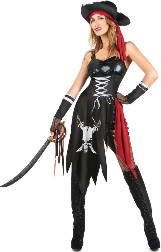Verscheurd sexy piraten kostuum voor vrouwen - Volwassenen kostuums