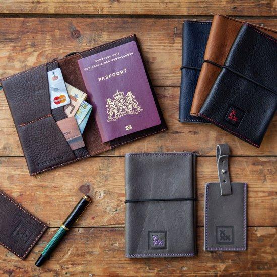 Leatherbox Grijs TravelsetPaspoortmapamp; Grijs Kofferlabelheaven Leatherbox Kofferlabelheaven TravelsetPaspoortmapamp; m8n0OvNw