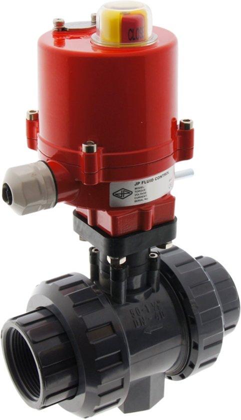 G1-1/2'' 120V AC Elektrische Kogelkraan PVC 3-Punt 16 Bar - PB - PB-112FF-AG2-120AC