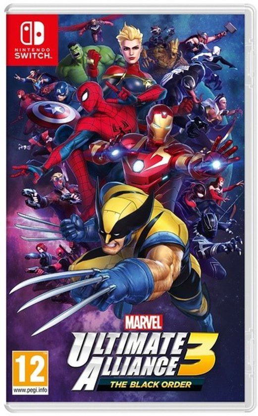 Cover van de game Marvel Ultimate Alliance 3: The Black Order Nintendo Switch