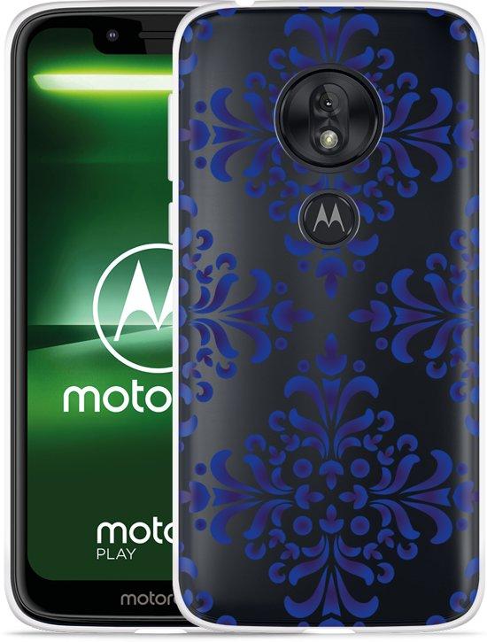 Moto G7 Play Hoesje Delfts Blauw