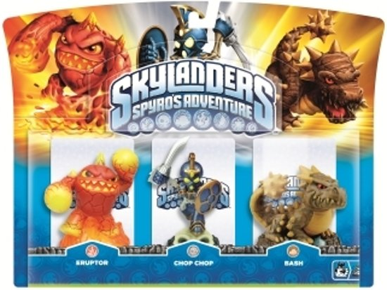 Skylanders Spyro's Adventure: Triple Pack Chop Chop, Bash, Eruptor
