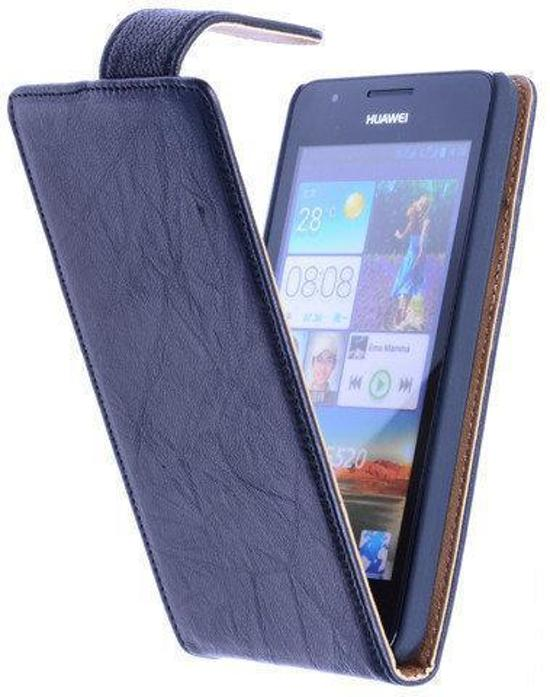 BestCases Zwart Kreukelleer Flipcase Huawei Ascend G510