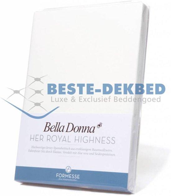 Bella Donna Topdek Hoeslaken Piccola jersey-1000 wit 180 x 220