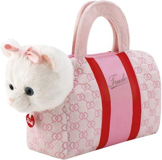 d56026465306cf bol.com | Trudi Knuffel Hond In Tas Roze/wit 20 Cm, Trudi | Speelgoed
