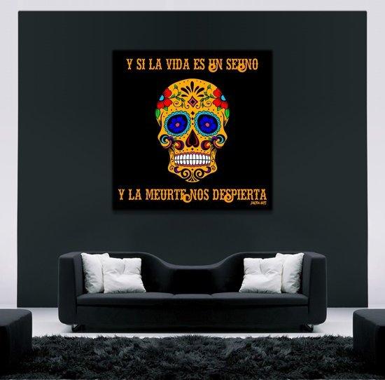 Mexican Skull Quote Art on Plexiglass