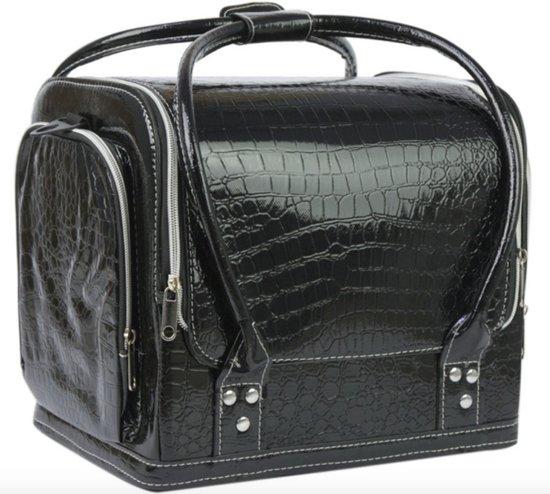 Beauty case, Nagel koffer, Beauty tas, Nagel tas, Make up koffer/tas  ZWART