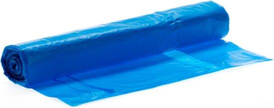 Plastic afvalzak LDPE 80x110cm 60 µ - blauw
