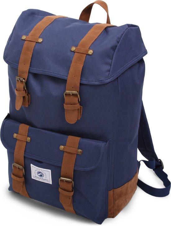 Dunga 8153 Vintage Backpack Deluxe - Rugzak - Blauw