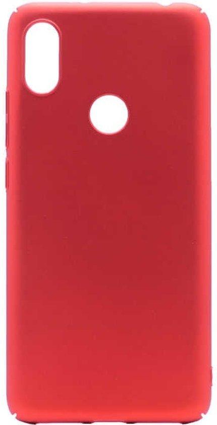 Teleplus Xiaomi Mi 8 Hard Rubber Cover Case Red + Nano Screen Protector hoesje