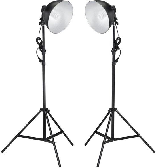 vidaXL - Daglichtlampen met reflector en statieven 45 watt