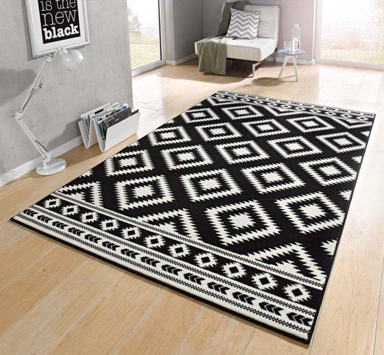 Vloerkleed  ethno 80x150cm zwart, creme Hanse Home