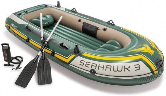 Intex 68380 - 3-Persoons opblaasbare boot set - Seahawk 3 - met peddels - met pomp