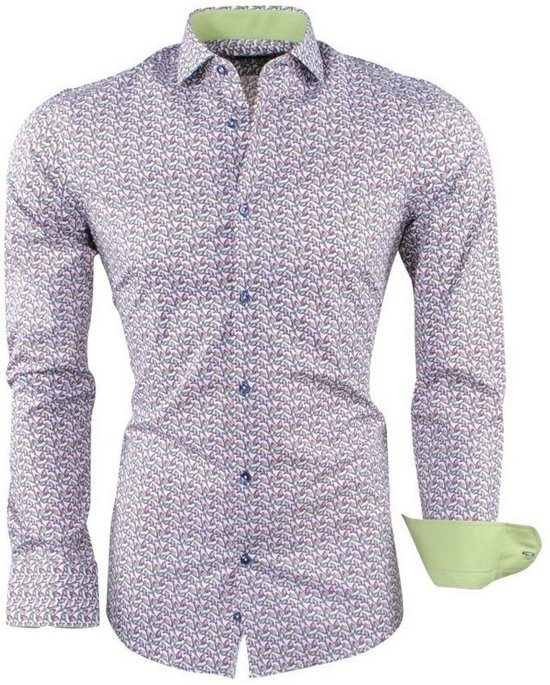 Stretch TowerHeren Overhemd Wit Met Trendy Dom Design qMUpSVLzG
